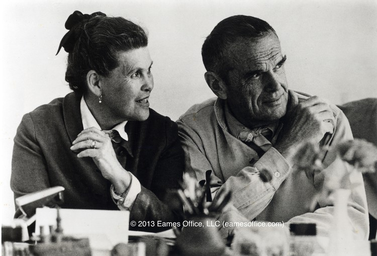 Charles y Ray Eames. Image © Eames Office