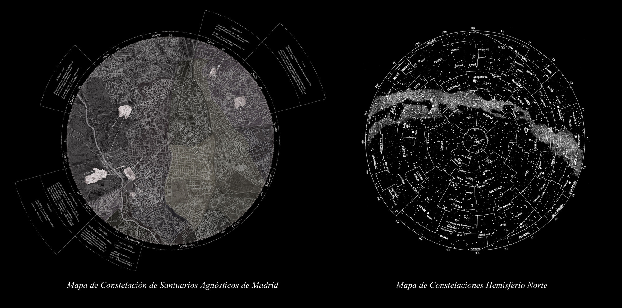 Constelación de Santuarios Agnósticos, siete intervenciones para reflexionar en Madrid, Constelación de Santuarios Agnósticos. Image Cortesia de Lucía Barrantes Egaña