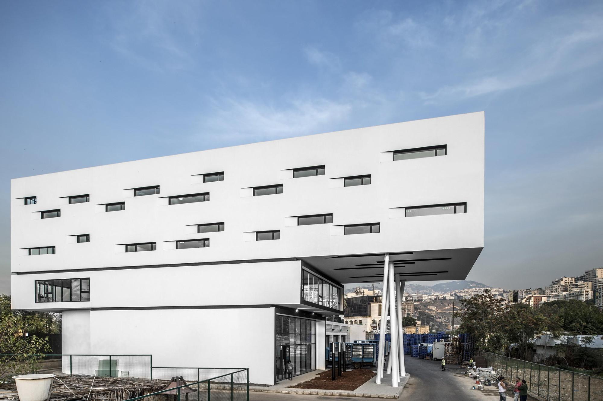 Gallery of nestl waters beirut headquarters bernard for Office design lebanon