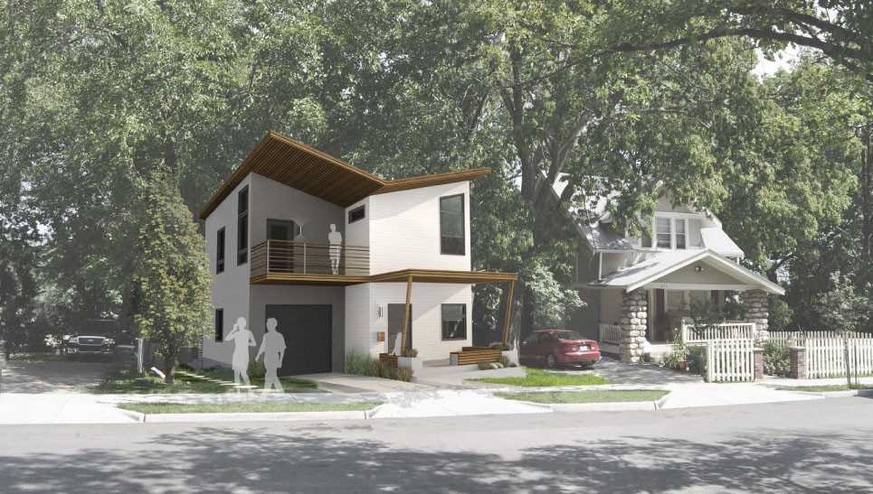 Make It Right Releases Six Single-Family House Designs for Manheim Park Community, Home design by DRAW. Image Courtesy of Make It Right