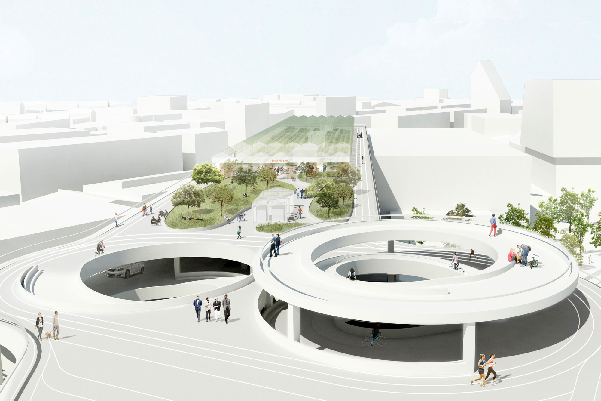 Gallery of hhf architects transform existing parking for Architecture 54