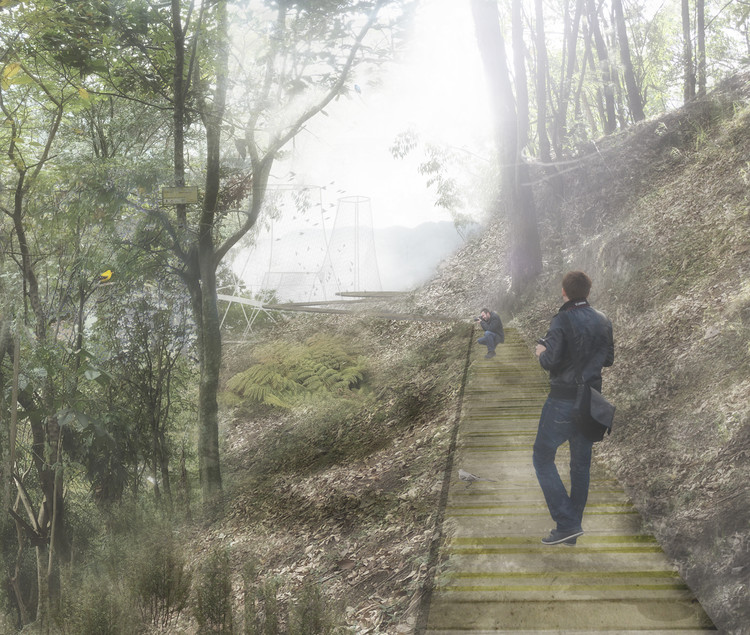 Bioparque La Asomadera: corredor aviario. Image Cortesía de Célula Arquitectura