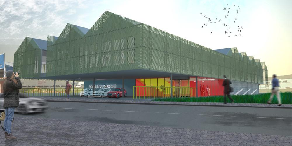OOIIO Arquitectura, primer lugar en concurso para futuro vivero de empresas en España , Cortesia de OOIIO Arquitectura