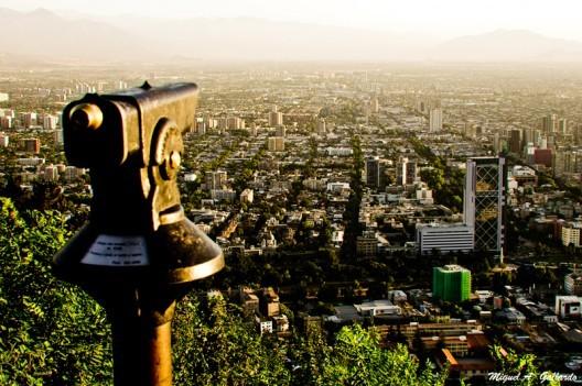 © Desde el Parque Metropolitano de Santiago. © Miguel A. Gallardo, vía Flickr.