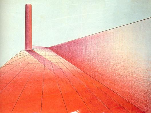 """Perspectiva de """"El Cigarro """" 1947 / Tinta con pasteles en papel. Image © Archivo R. Uranga"""