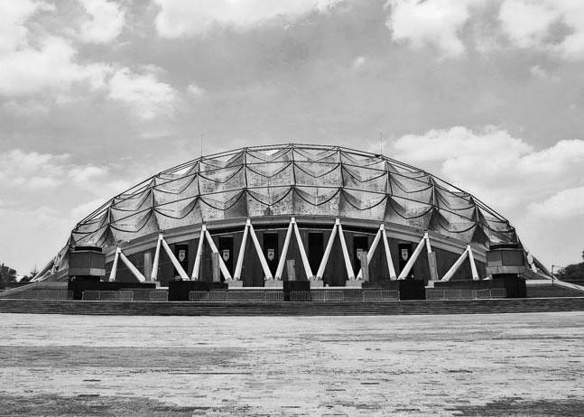 Palacio de los Deportes, Felix Candela. Image Cortesía Obras Web