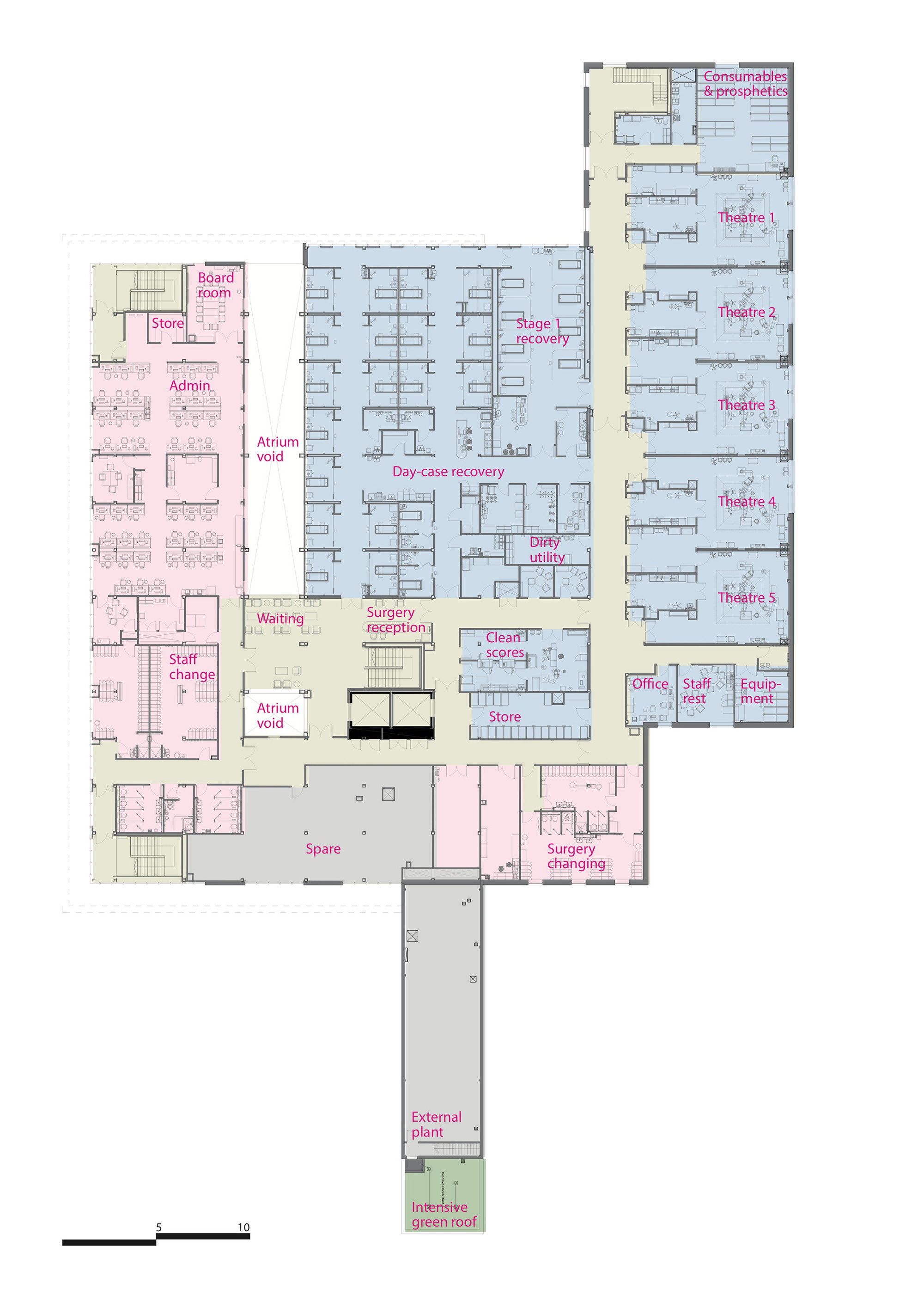 Gallery of circle reading hospital brydenwood 10 for Reading a floor plan