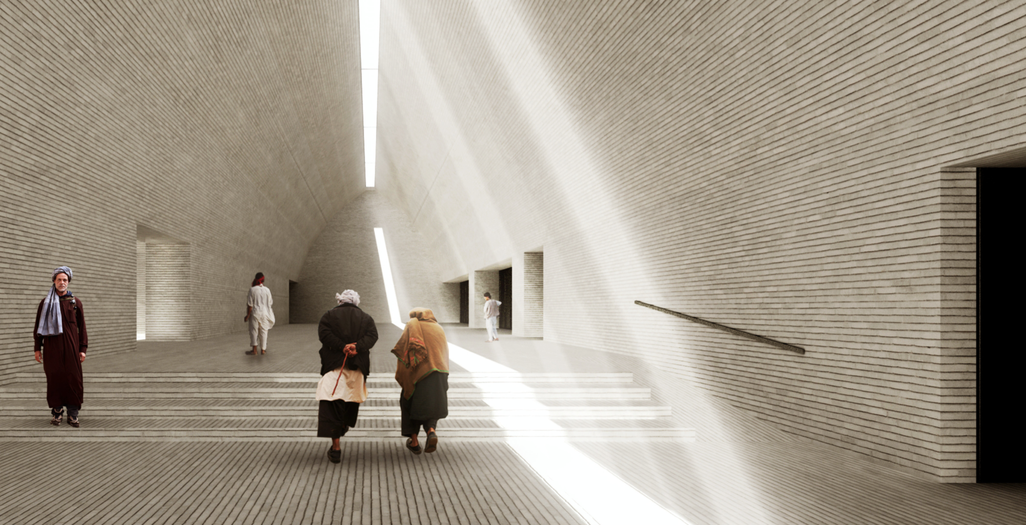 Winning Entry: Entry Hall. Image Courtesy of UNESCO