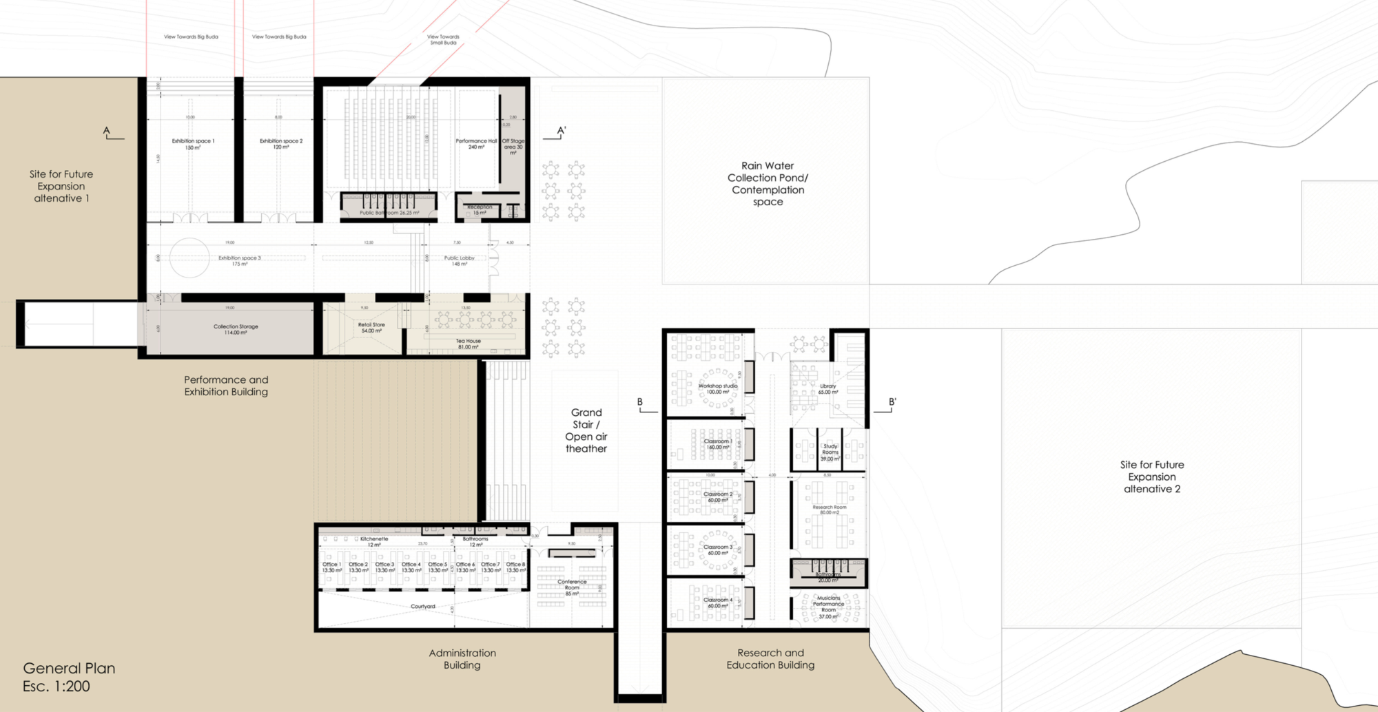 Winning Entry: Ground Floor Plan. Image Courtesy of UNESCO
