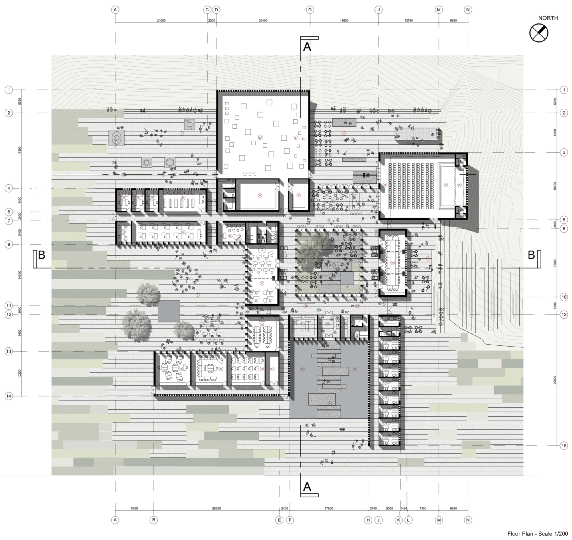 Runner Up [1]: Ground Floor Plan. Image Courtesy of UNESCO