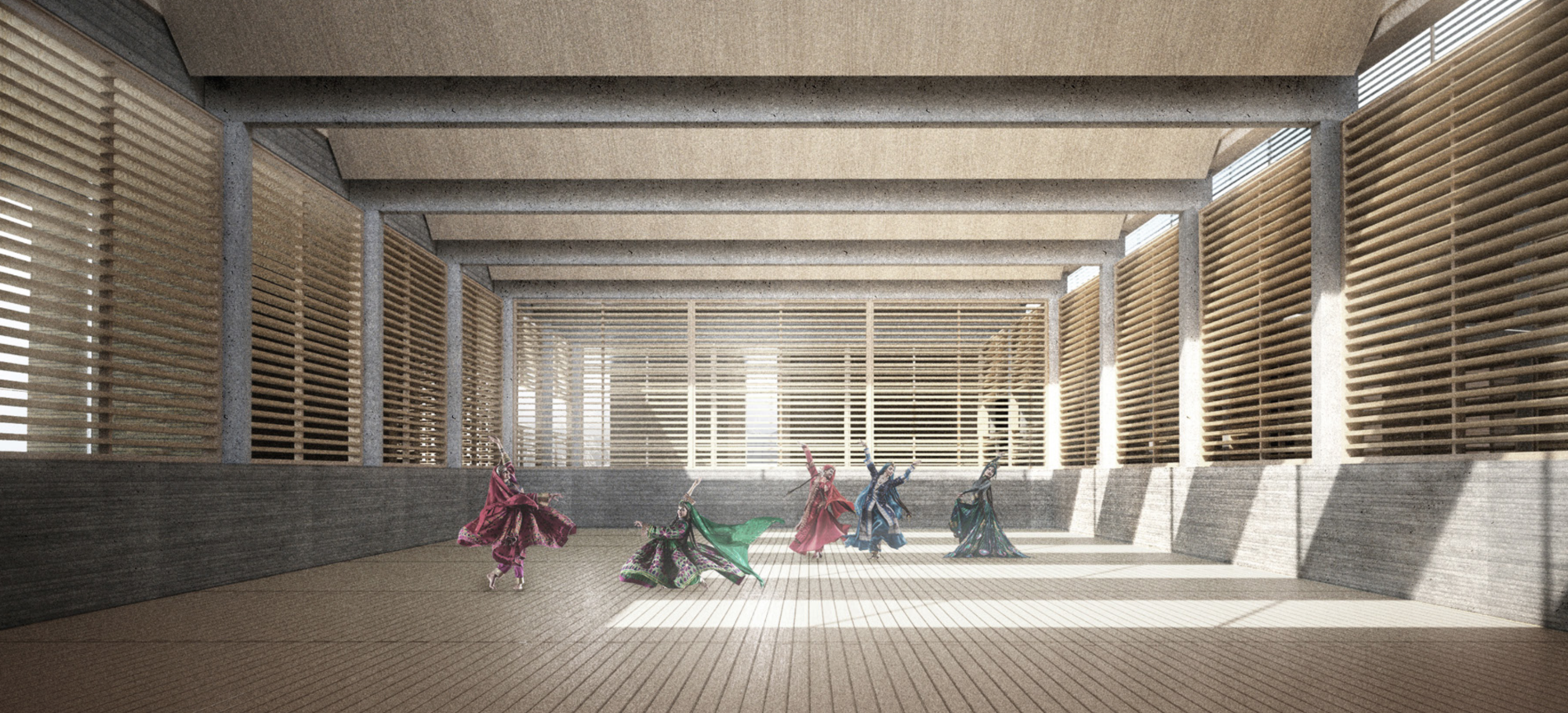 Runner Up [2]: Performance Space. Image Courtesy of UNESCO