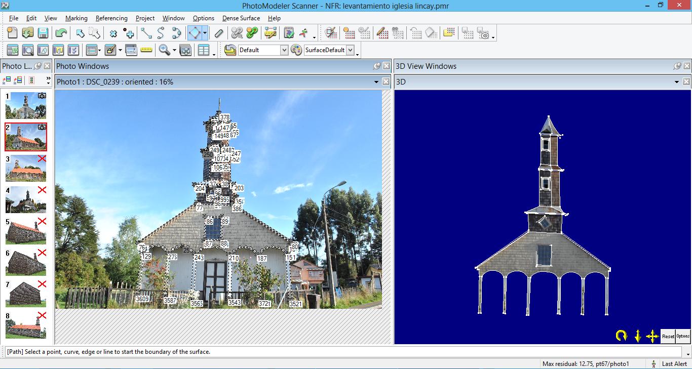 Levantamiento fotogramétrico Iglesia Lincay / Programa Chiloé 2014