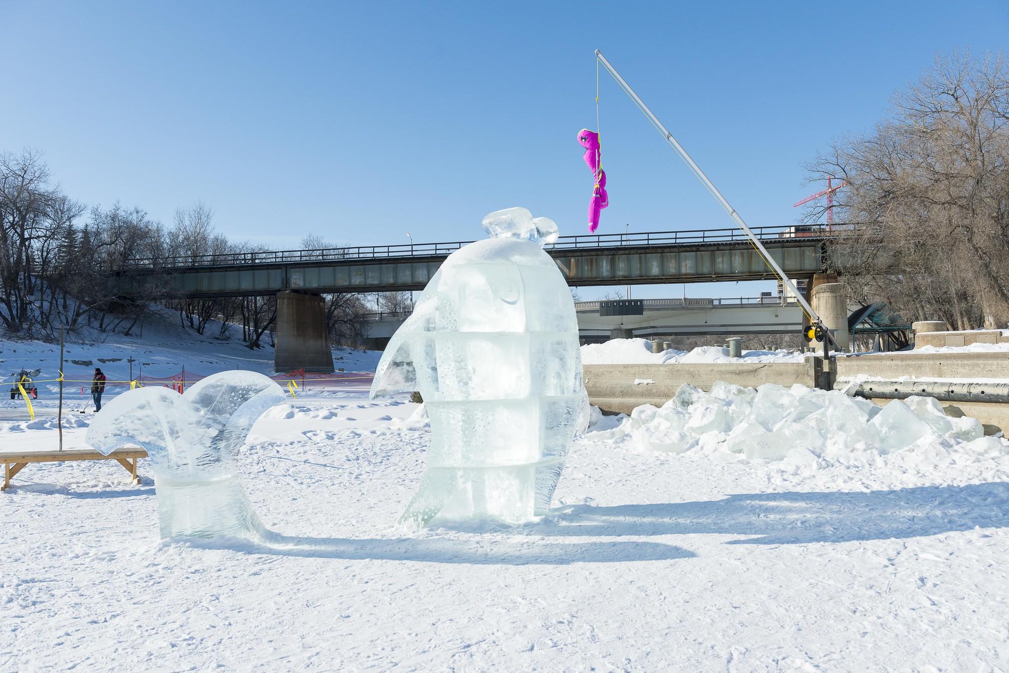 "Ganador ""Refugio"": This Big / Tina Soli & Luca Roncoroni (Dorebak Akershus). Cortesía Warming Huts"