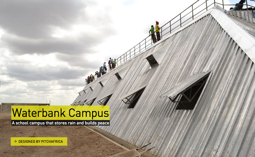 Waterbank Campus / PitchAfrica. Imagen via Design Museum