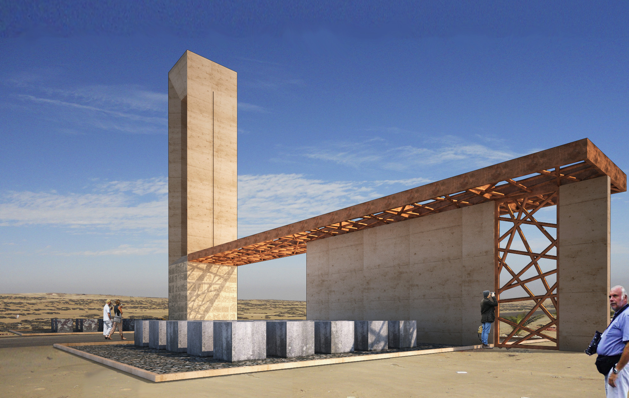 Segundo lugar en concurso de escenario de batalla del Alto de la Alianza / Perú, Cortesia de 2.0 Arquitectos