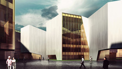 "RTA-Office's Mountainous ""Cultural Container"" Wins First Prize"