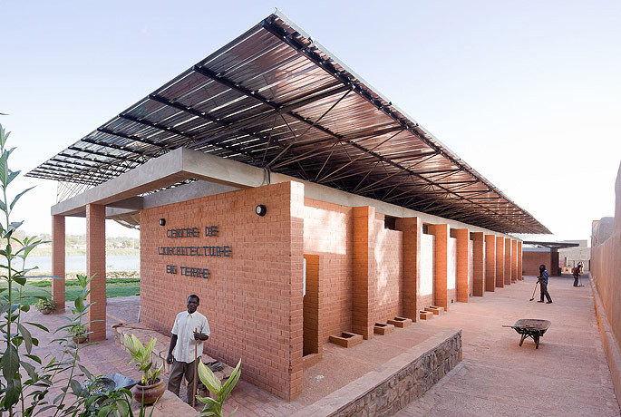 The Centre for Earth Architecture in Mopti, Mali. Image © Iwan Baan