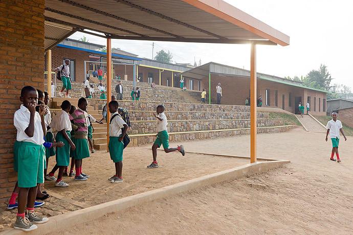 The Umubano Primary School in Kigali, Rwanda. Image © Iwan Baan