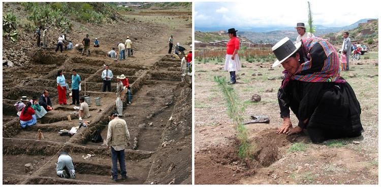 Familiares acompañando el proceso de exhumación en la Hoyada. Image Cortesía de Awaq Estudio + Estudio Shicras