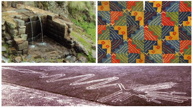 Referencias de arquitectura, paisaje y arte prehispánico. Image Cortesía de Awaq Estudio + Estudio Shicras