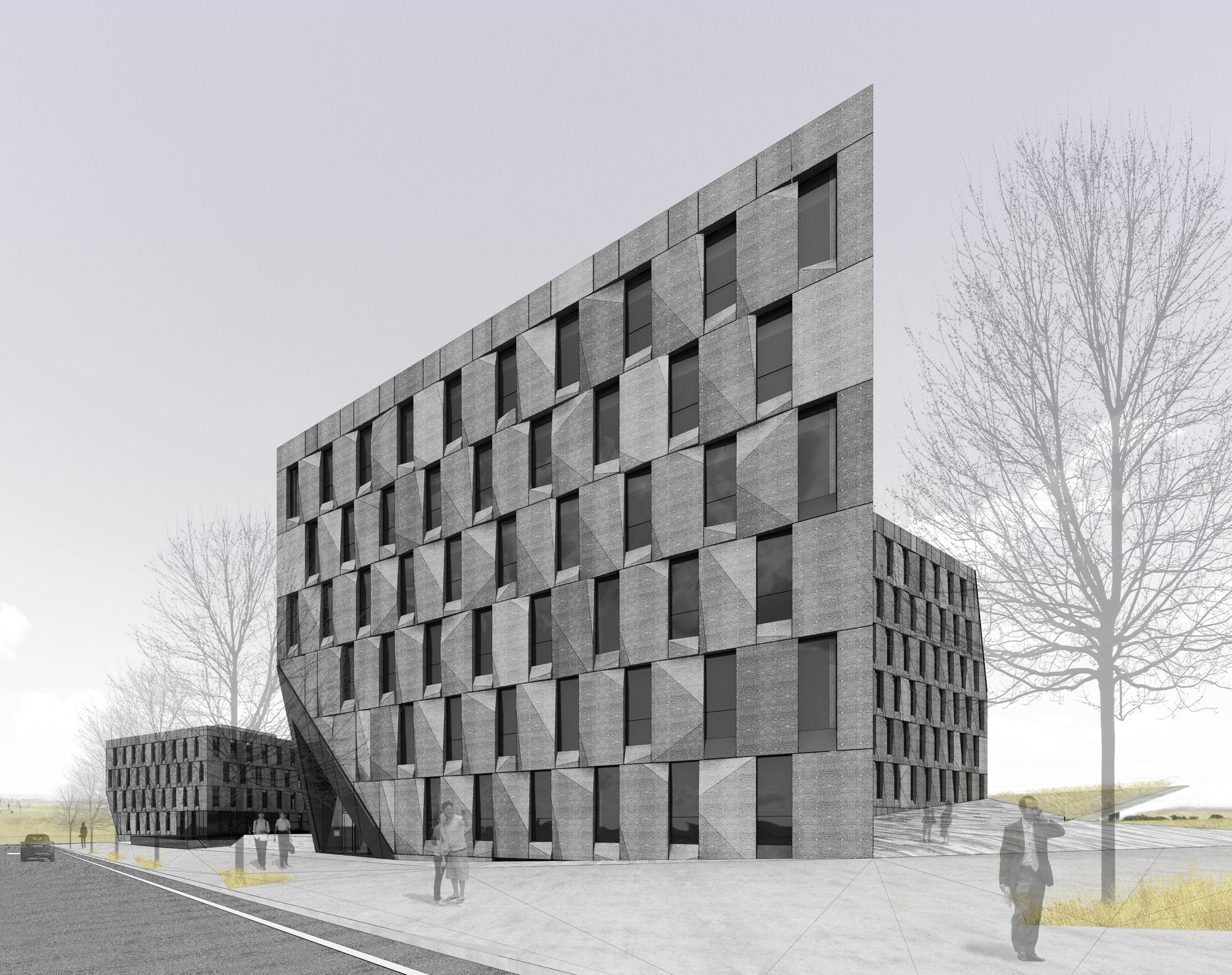 Cubic Buildings by NADAAA and Himma Studio Redefine the Office Space, Courtesy of NADAAA