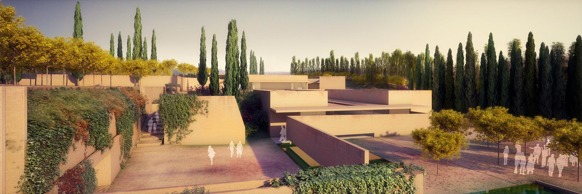 España: construcción del nuevo atrio de la Alhambra diseñado por Álvaro Siza levanta polémica, © Alvaro Siza Vieira + Juan Domingo Santos; Rendering by LT Studios