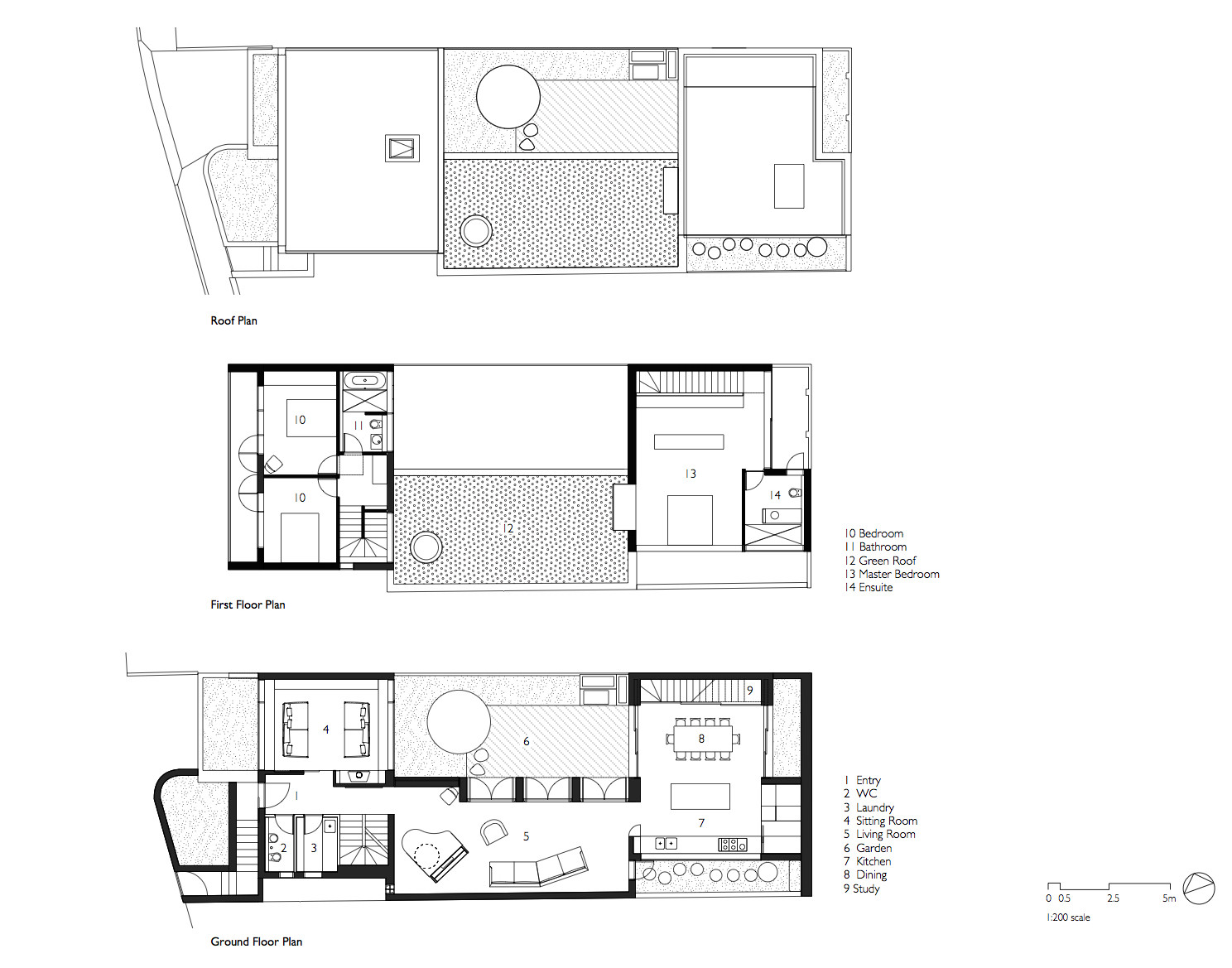 Courtyard House Aileen Sage Architects on 2 bedroom log cabin plans