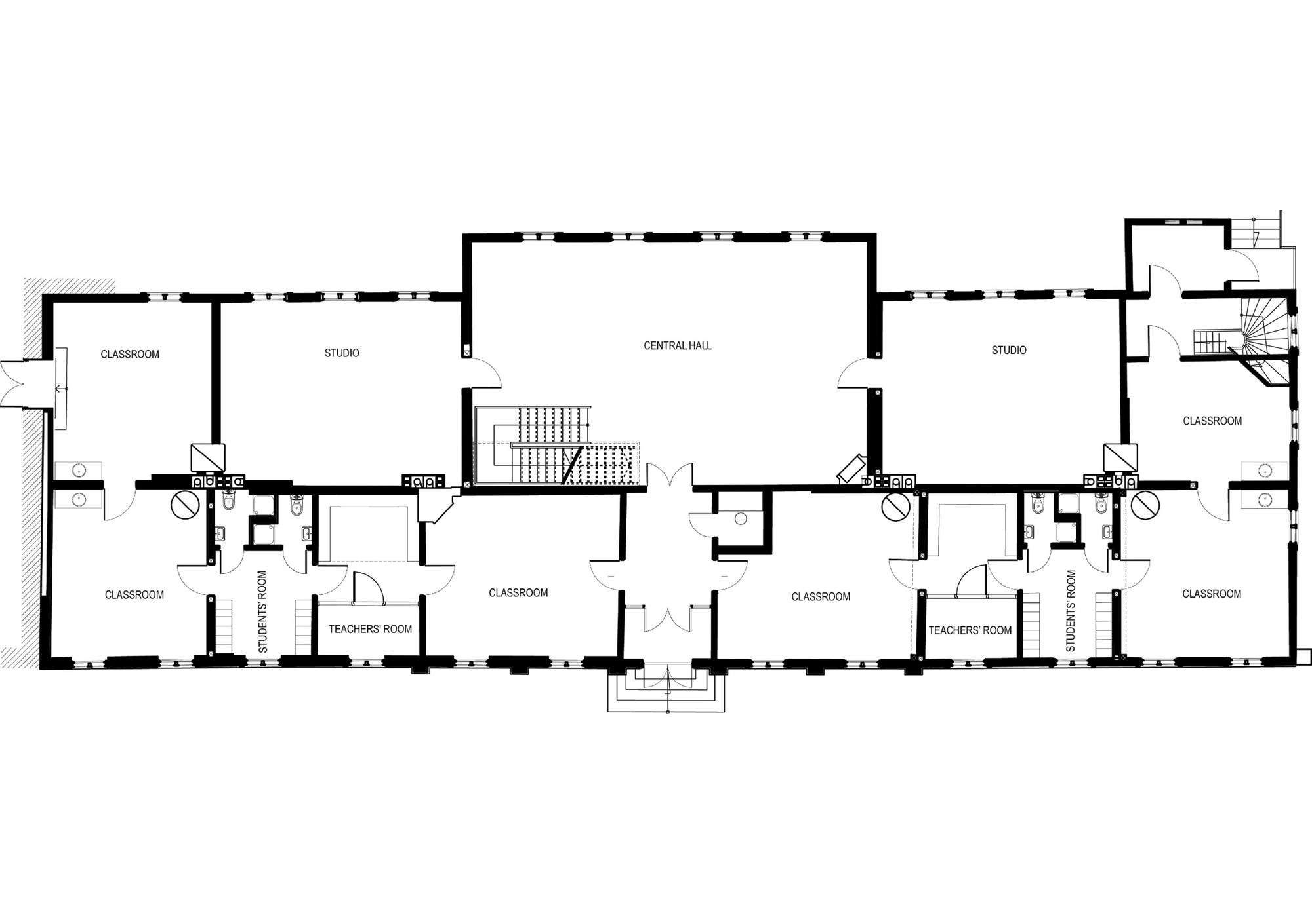 School building plan modern house for Building design plan