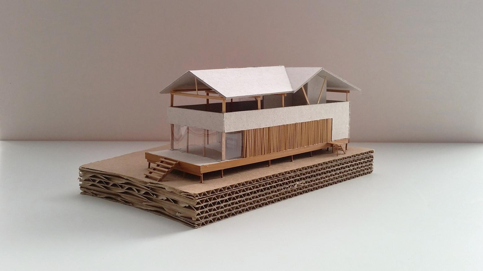 Galer a de casa en playa del carmen yupana arquitectos 10 for Sillas para una maqueta