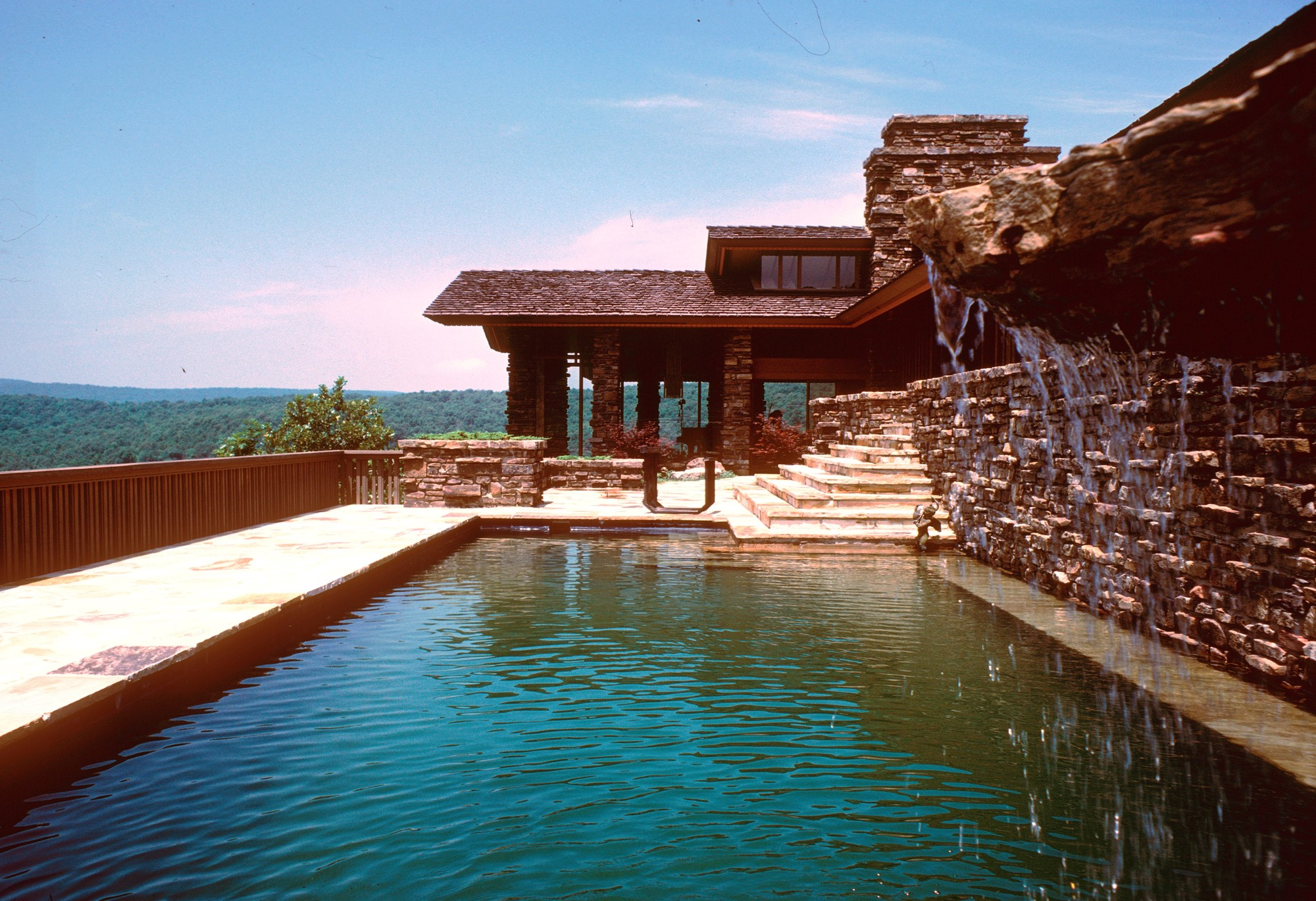 Frank Lloyd Wright and Fay Jones on the Web: The Value of Online Exhibitions , Alexander Residence (Raheen) Swimming Pool. Image © Fay Jones Collection, Special Collections, University of Arkansas Libraries