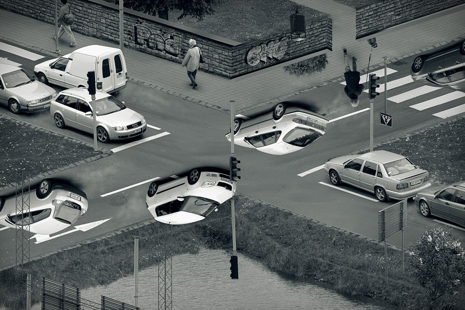 """""""Common sense crossing"""". Imagen Cortesía de Erik Johansson"""