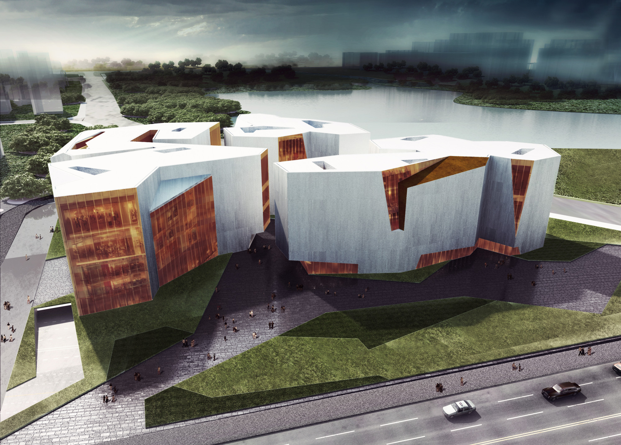 RTA-Office, primer lugar en concurso de Centro Cultural en Wuhu, China, Cortesia de RTA-Office