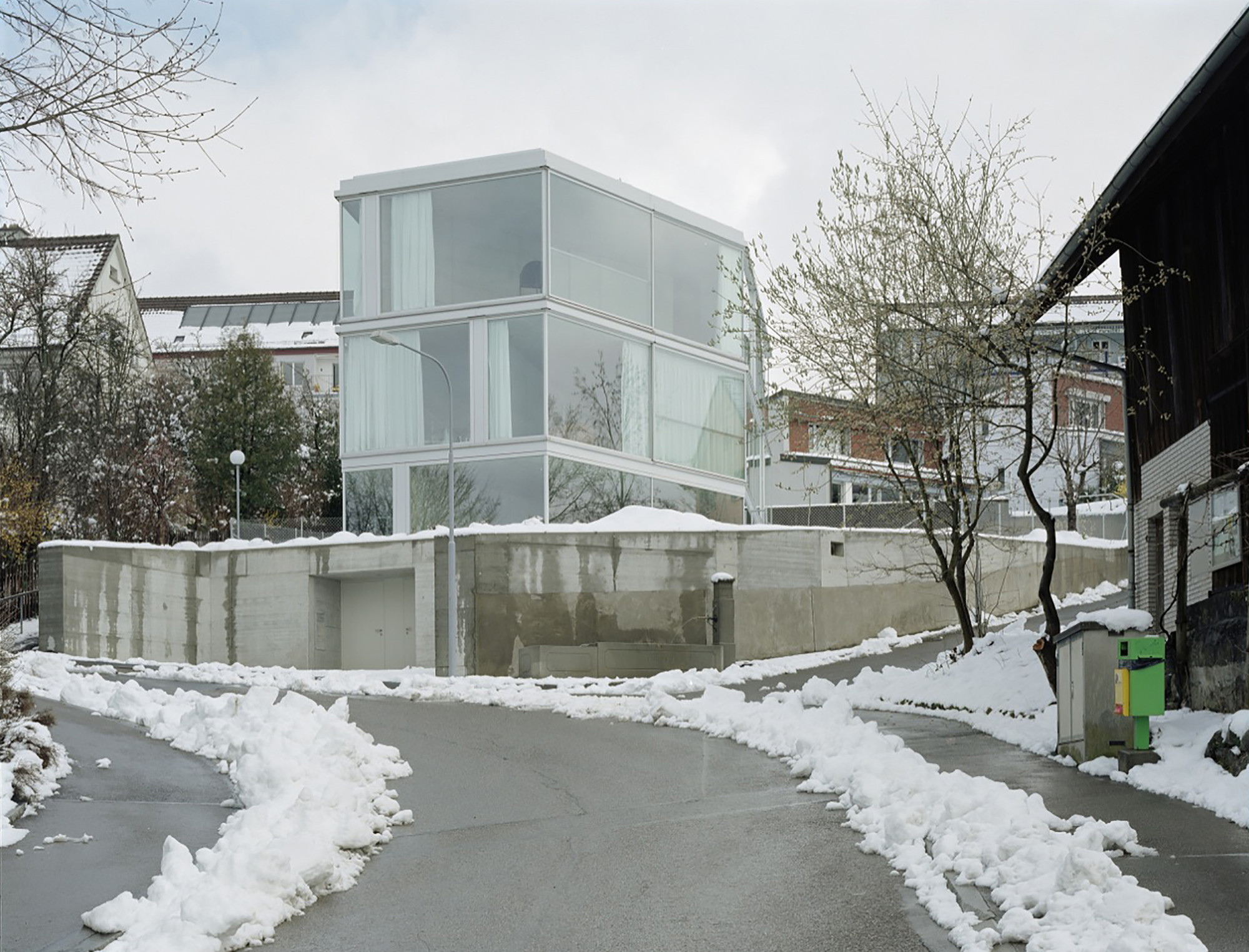 House with one wall christian kerez archdaily for Architecture suisse