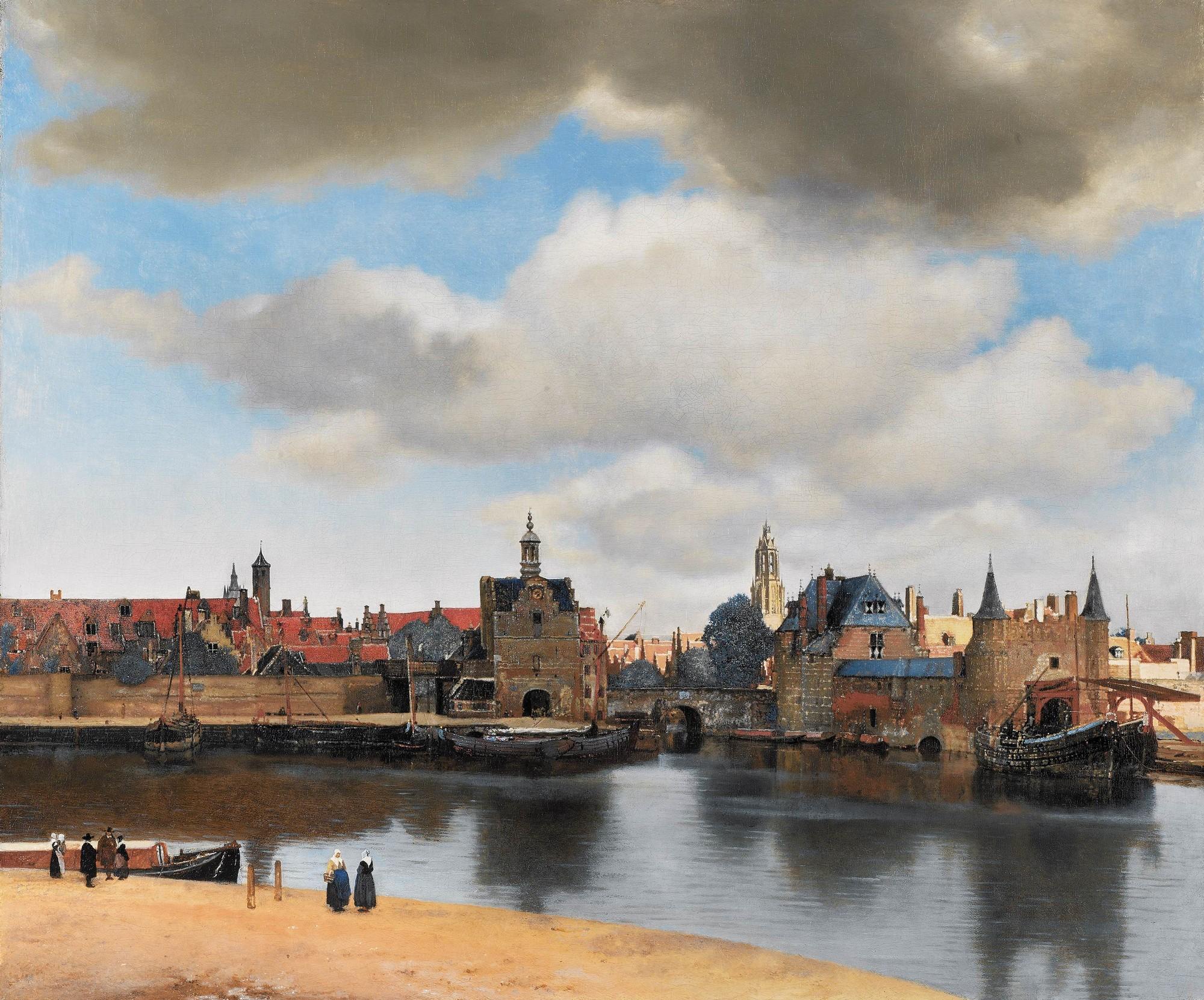 Gezicht op Delft / Vista de Delft. Johannes Vermeer