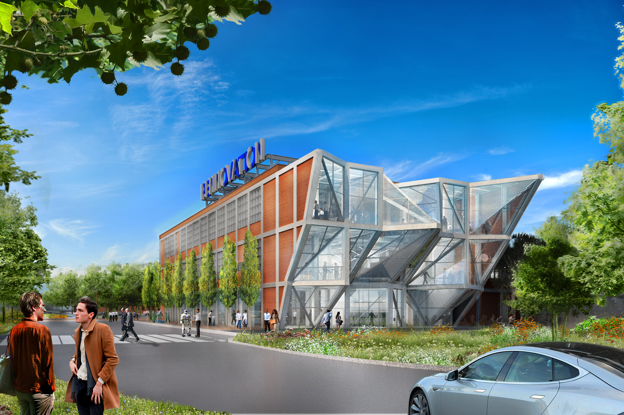 """HWKN Unveils Design for """"Pennovation Center"""" in Pennsylvania, Courtesy of HWKN Architects"""