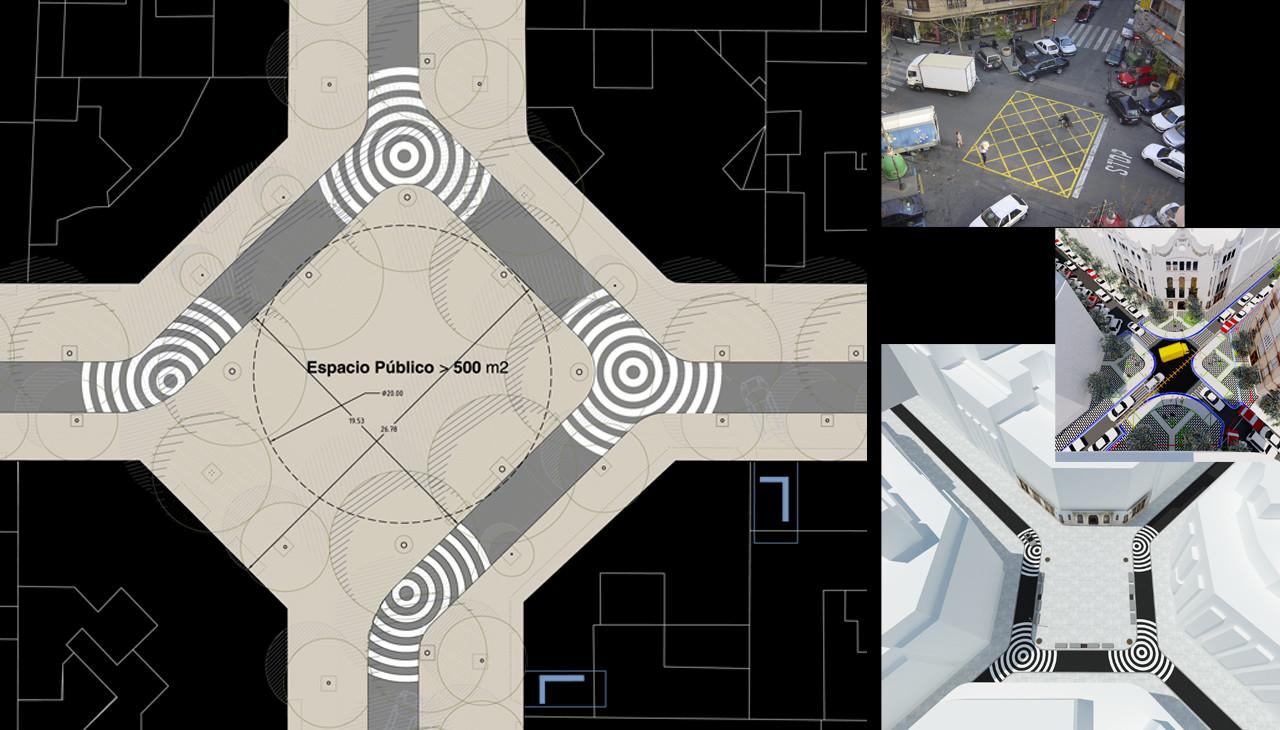 Evolución Cruce / Plaza. Image © EFG arquitectura