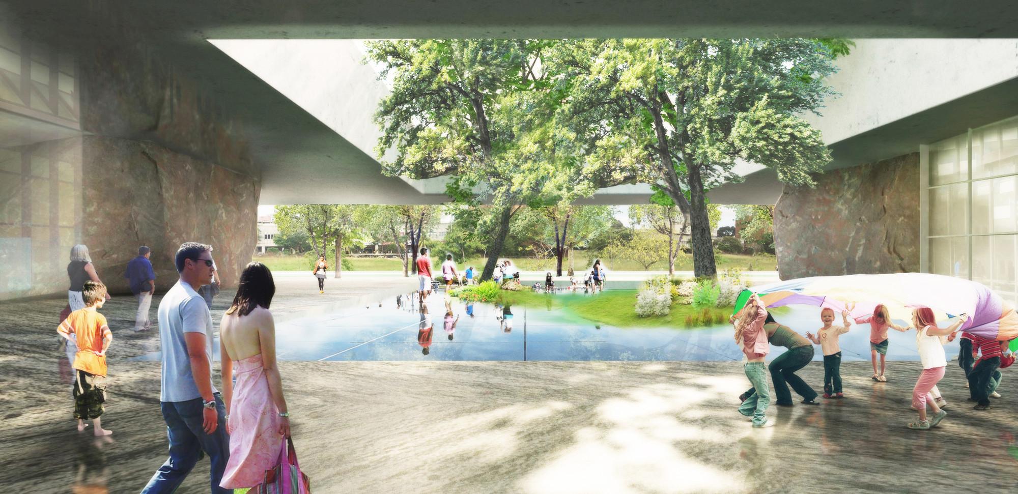 Plaza cubierta. Image Cortesia de adjkm + Montemayor Arquitectos + VEPICA