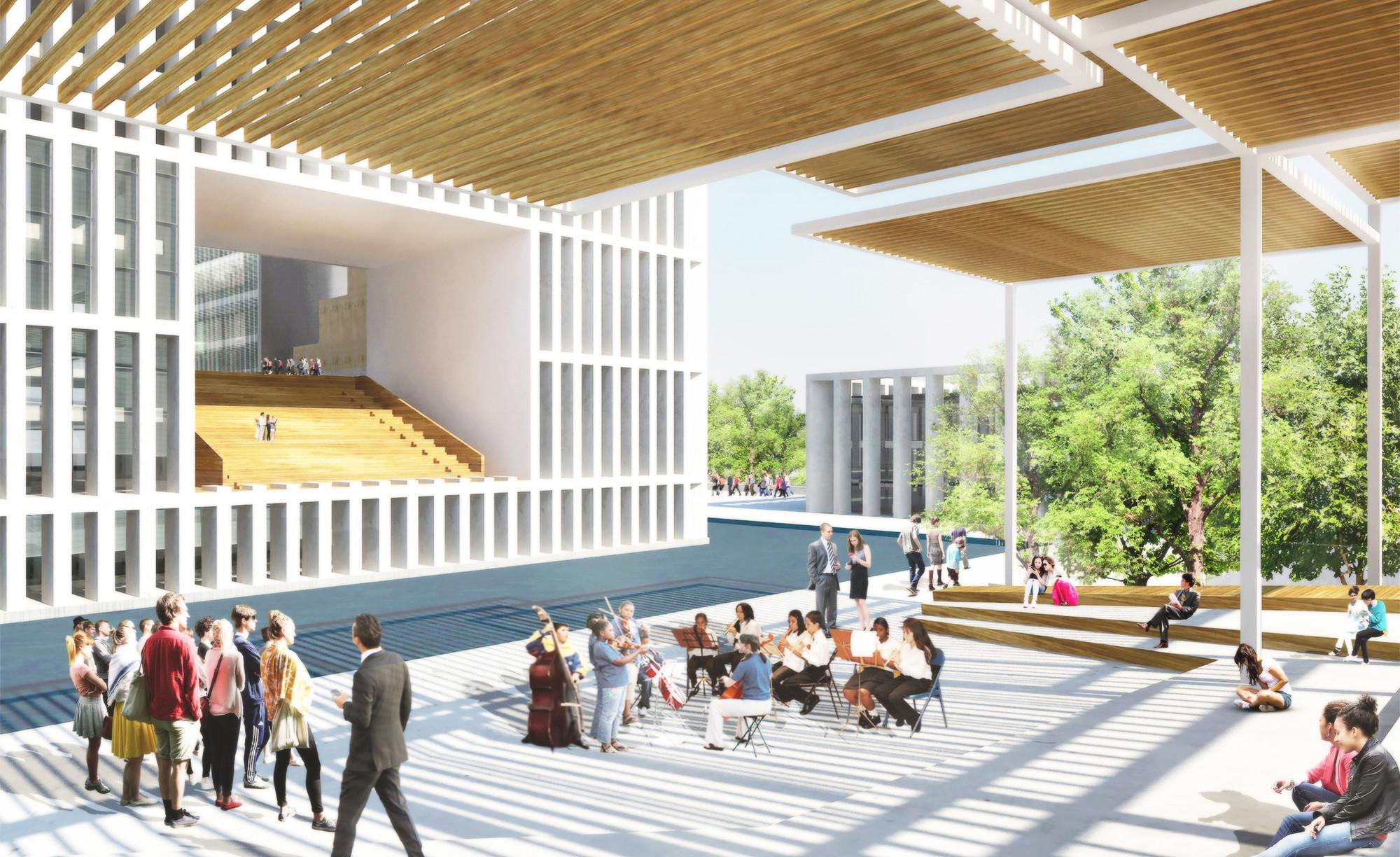 Anfiteatro a cielo abierto. Image Cortesia de adjkm + Montemayor Arquitectos + VEPICA