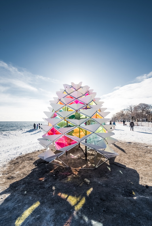 """Winter Stations"" Bring Warmth to Toronto's Frozen Beaches , Snowcone. Image © Remi Carreiro"