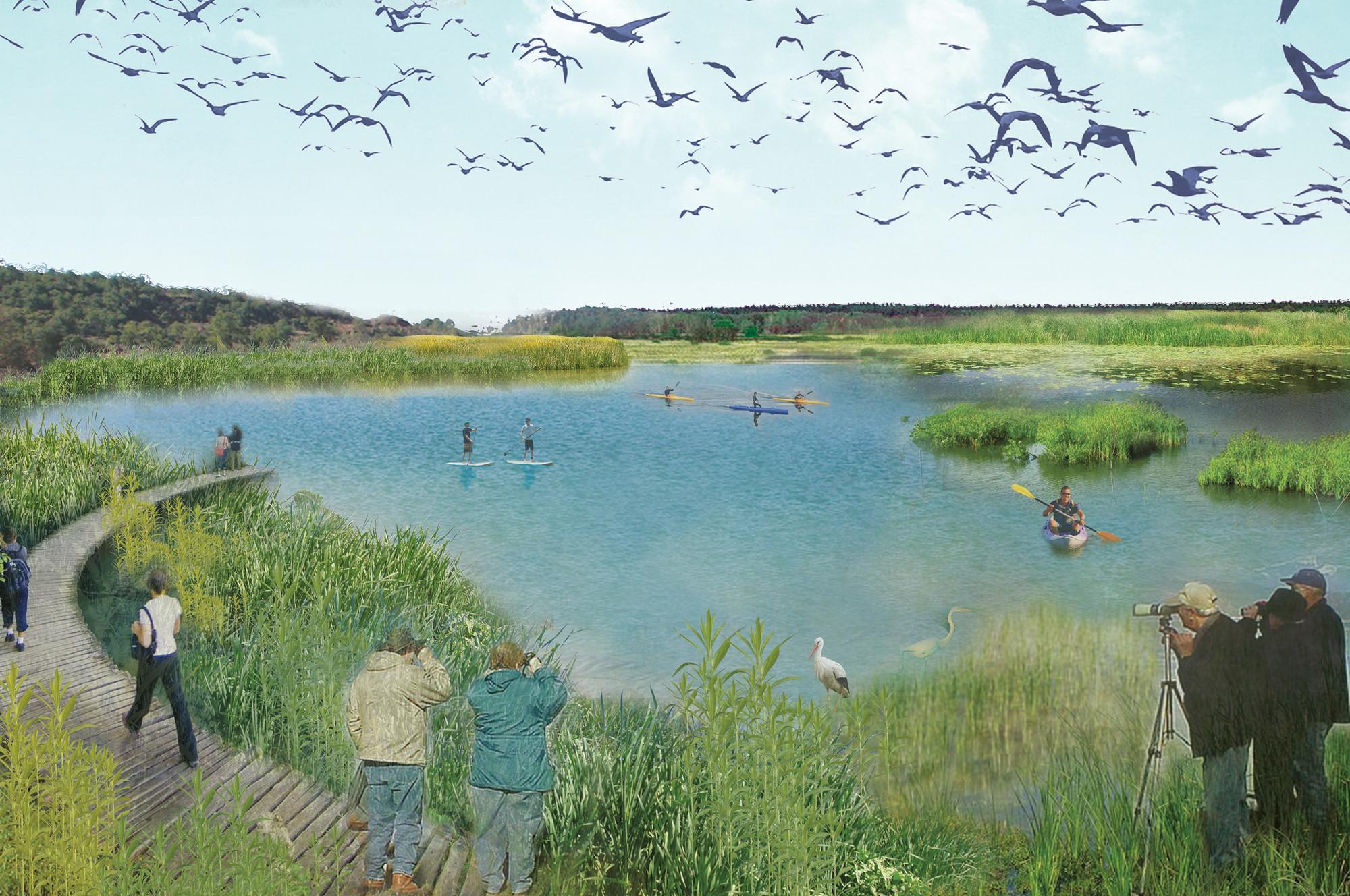 Zonas de baño en área natural. Image Cortesia de Ecosistema Urbano