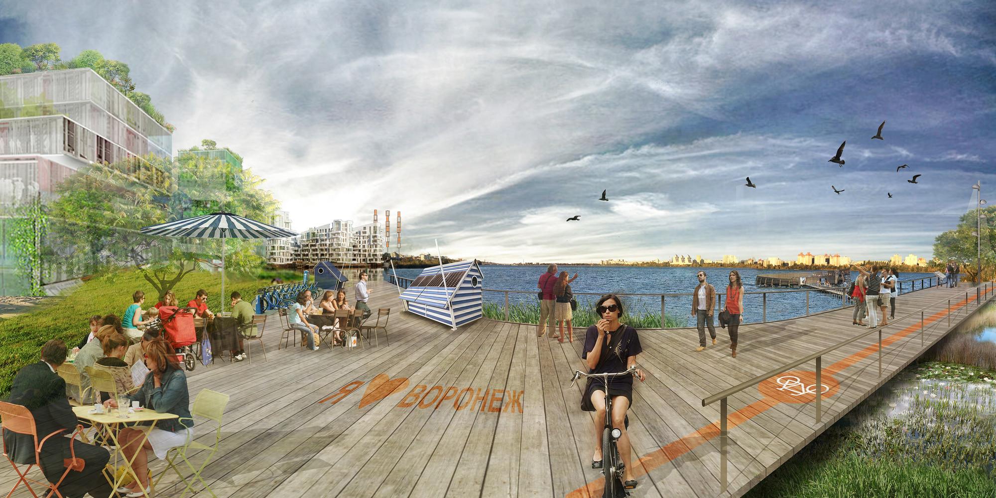 Ecosistema Urbano, primer lugar compartido en concurso de revitalización del mar de Voronezh / Rusia, Ecobarrio de uso mixto. Image Cortesia de Ecosistema Urbano