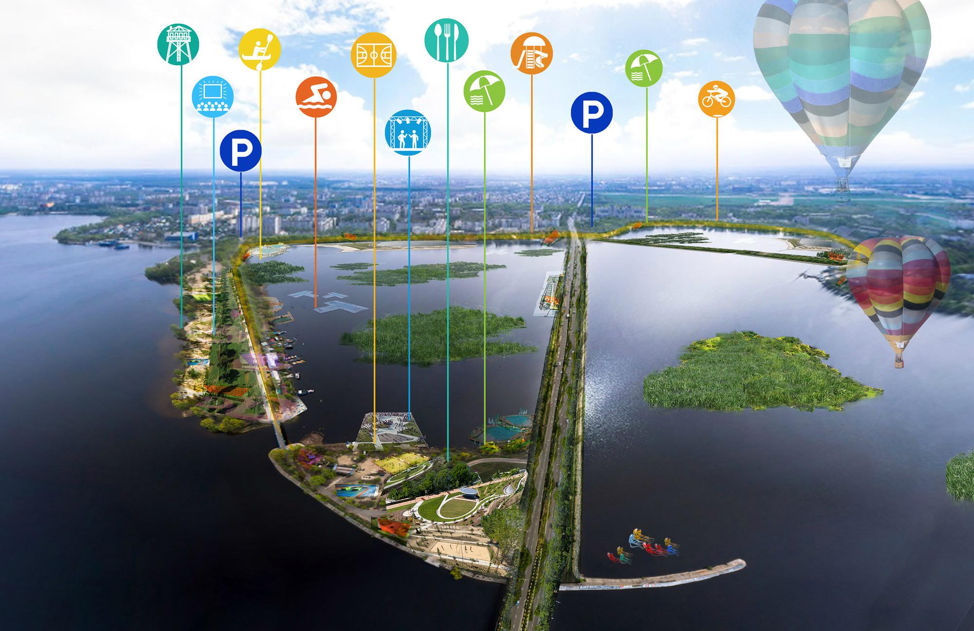 Isla de ocio. Image Cortesia de Ecosistema Urbano