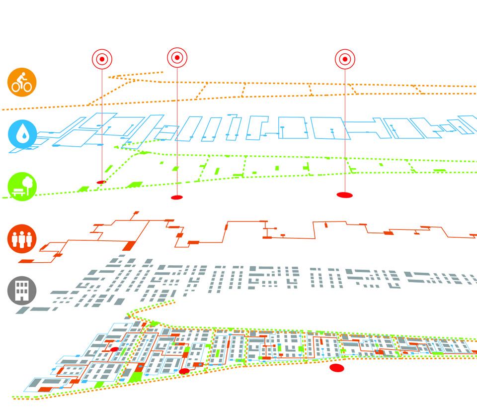 Layers de nuevos desarrollos. Image Cortesia de Ecosistema Urbano