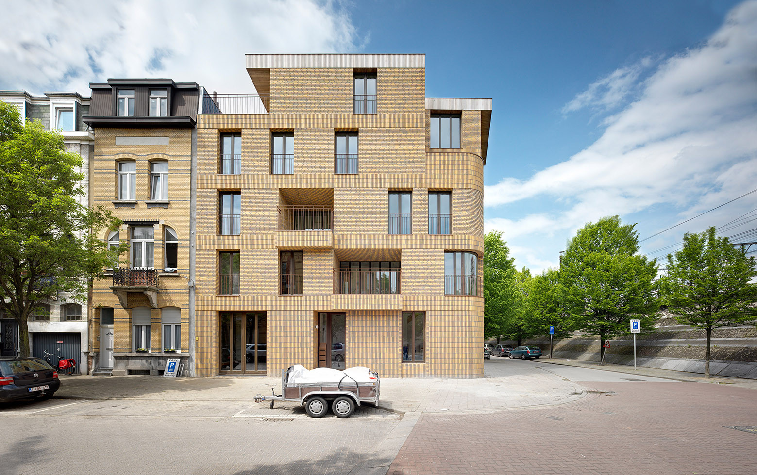 Vivienda colectiva AGVC / De Gouden Liniaal Architecten, © Bart Gosselin