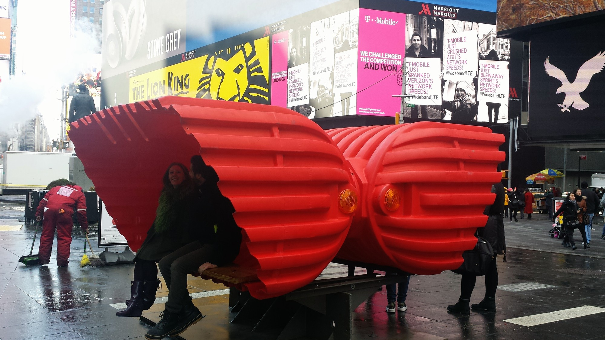 Stereotank's HeartBeat Transformed into Times Square HeartSeat, © Stereotank