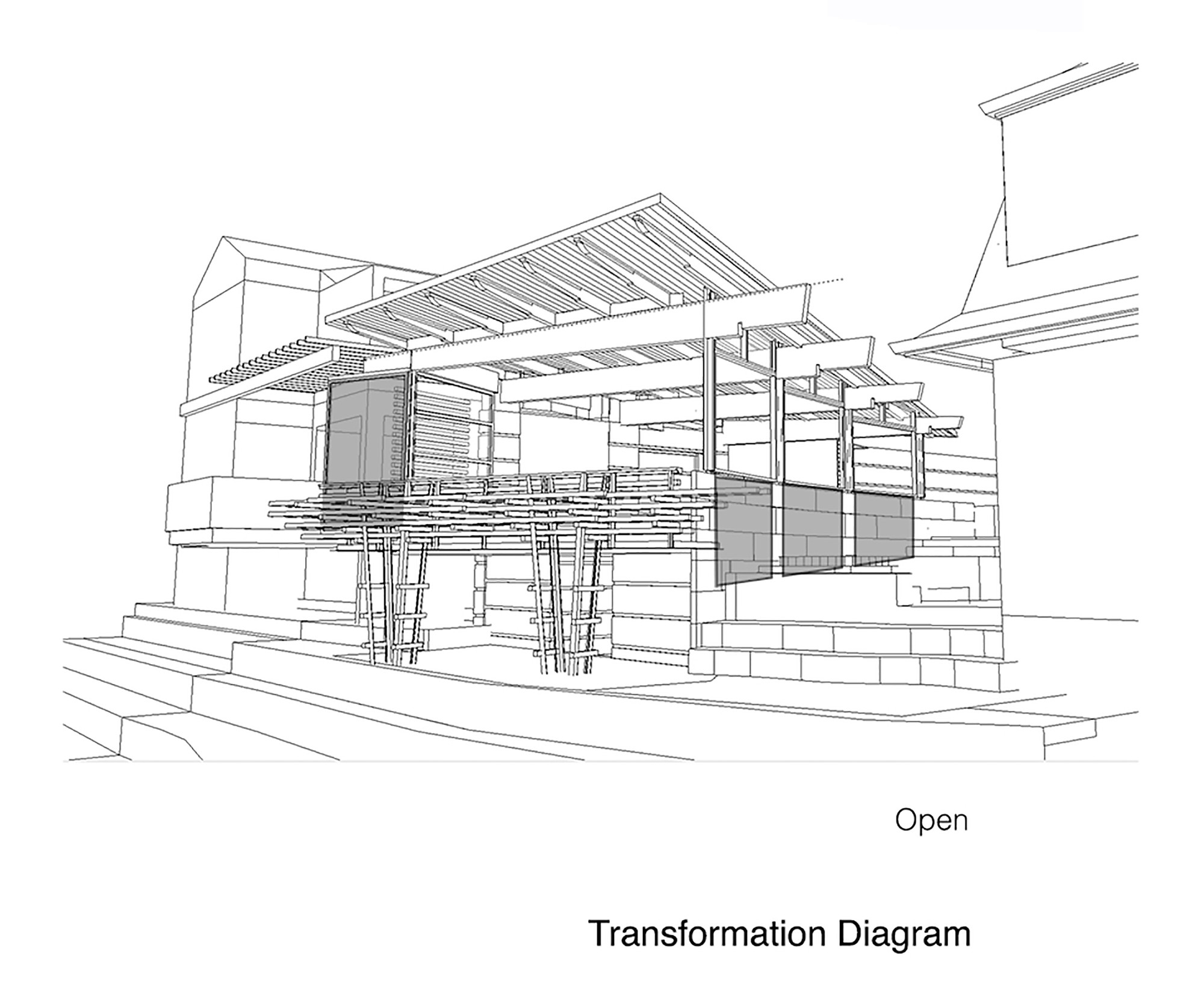 Gallery of garden pavilion robert edson swain for Magento 2 architecture diagram