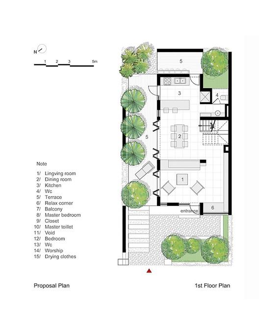 Planta propuesta - primer piso