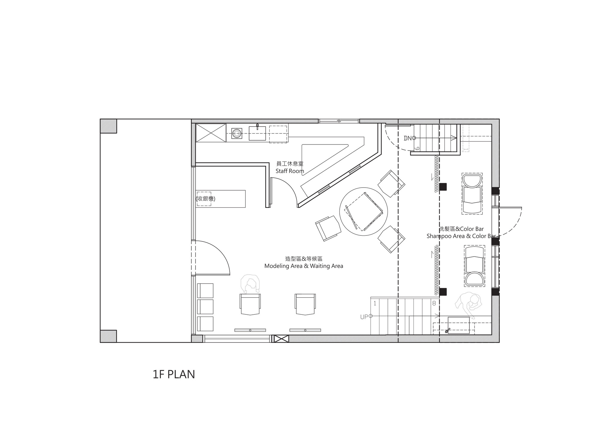 Hair salon floor plan design joy studio design gallery for Salon floor plans free