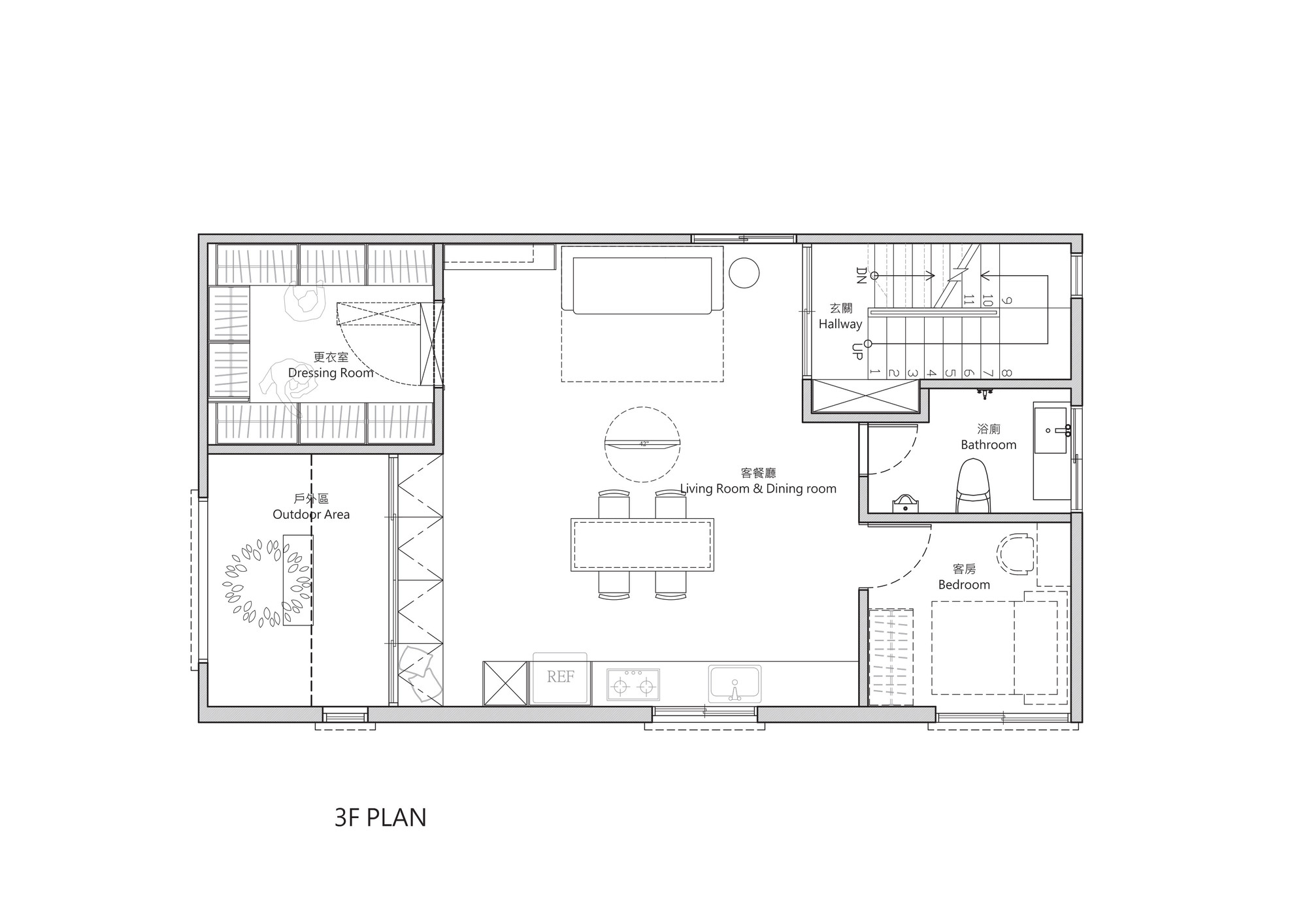 Gallery of renovation of split level hair salon for Salon floor plans free