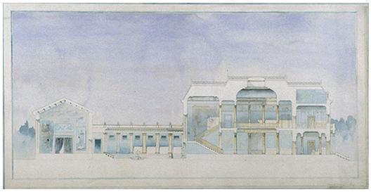 Corte en acuarela estudio del artista. Imagen de dominio público